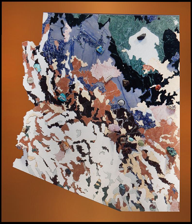 Arizona Geologic Map in stone