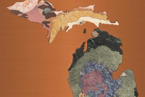 Michigan Geologic Map in Stone